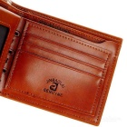 Men's Fashionable PU Leather Short Wallet - Coffee