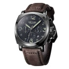 MEGIR Men's Business Quartz Watch - Black + Coffee