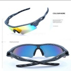 OSSAT UV400 TR90 Frame PC Red REVO Lenses Sunglasses - Multicolored