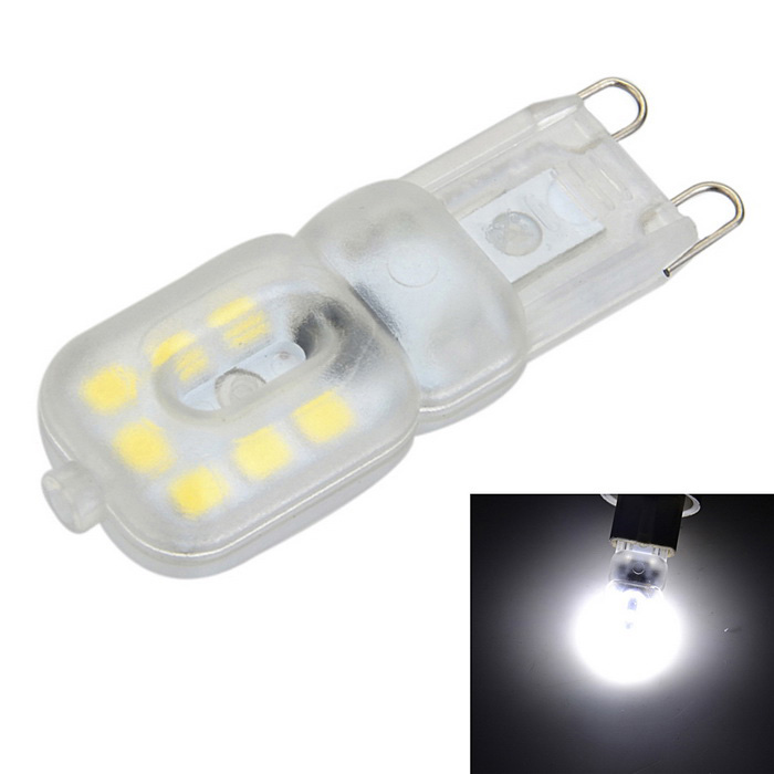 Dimmable G9 3W 200lm 6500K Cool White Light 14-SMD LED Bulb (AC 220V)G9<br>Form  ColorWhite + Yellow + Multi-ColoredColor BINCold WhiteMaterialPC + aluminumQuantity1 DX.PCM.Model.AttributeModel.UnitPower3WRated VoltageAC 220-240 DX.PCM.Model.AttributeModel.UnitConnector TypeG9Chip BrandOthers,N/AChip TypeLEDEmitter TypeOthers,2835 SMDTotal Emitters14Actual Lumens100-200 DX.PCM.Model.AttributeModel.UnitColor Temperature6500KDimmableYesBeam Angle270 DX.PCM.Model.AttributeModel.UnitCertificationCE, RoHsPacking List1 x LED Bulb<br>