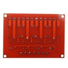Produino New 4-Channel 5V High Level Relay Module - Red + Blue
