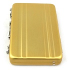 Mini Portable Safe Box Style Aluminium Alloy Card Case Houder - Gouden