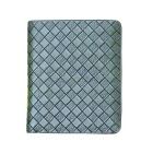 Fashionable Men's Knitting PU Leather Short Wallet - Green
