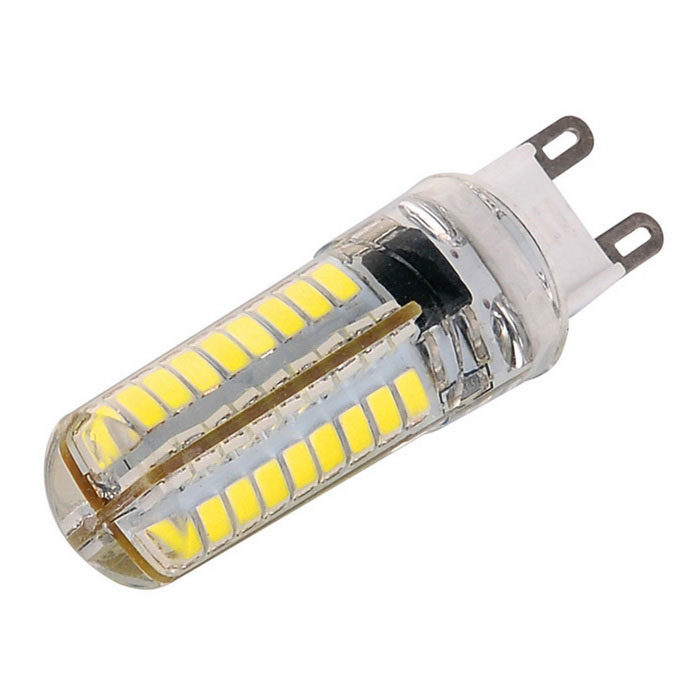Dimmable G9 8W 640lm 72x2835 SMD LED Corn Bulb Cold White Light