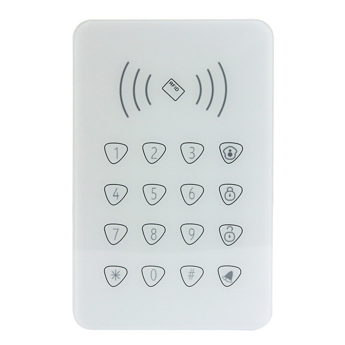 AG-security 433mHz Wireless Keypad for DP-X8 Alarm System - White