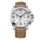 MEGIR 377801 Men's Business Quartz Watch w/ Calendar - Brown + White