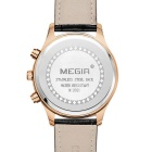 MEGIR Men's Business Quartz Watch - Black + Rose Gold