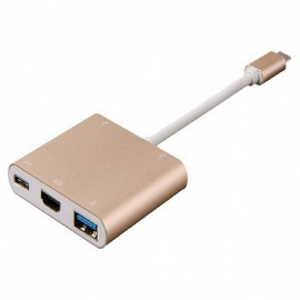 USB 3.1 Type-C to USB3.1, HDMI, USB 3.0, USB 2.0 Adapter (DP Mode)