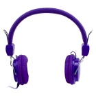MGALL Fashion 3.5mm Wired Stereo Subwoofer Surround Sound Headphone w/ Mic. 130cm Cable - Purple