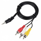 3.5mm Male to 3 RCA Male AV Adapter Cable (70CM-Length)