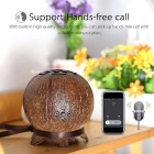 Bluetooth Stereo Speaker w/ Mic, 2-Speaker, Hands-free, Coconut Shell