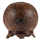 Portable Wireless Bluetooth Stereo Speaker w/ Mic, Double Speakers, Hands-free, Coconut Shell