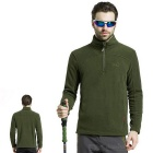 Wind Tour Men's Outdoor Cycling / Hiking / Mountaineering Warm Breathable Fleece Jacket - Green (XL)