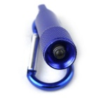 Durable Aluminum Alloy LED Flashlight w/ Carabineer - Blue (4*LR41)