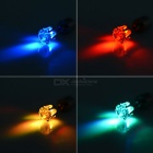 CTSmart Unisex Fashion Colorful Light LED Luminous Ear Stud Earring for Party / Bar - Silver