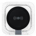 Universal Square 5V / 1.5A Qi Wireless Charger Charging Pad - Transparent + Black
