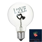 "E27 3W ""LOVE"" Pattern Decorative NEON Bulb Lamp Colorful Light (220V)"