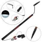 Outdoor Camping 9-Section Retractable Fishing Pole Lamp - Black + Red + Multicolor