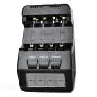 BM100 4-Slot Smart Battery Charger for Ni-MH NiCD AA / AAA Batteries - Black (US Plug)