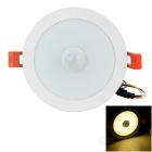 Human Body Infrared Inductive 7W 500lm 3000K 14-5730 SMD LED Warm White Ceiling Light (AC 100-240V)