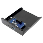 "CY USB to Motherboard Front Panel for 3.5"" Floppy Bay - Black + Blue"