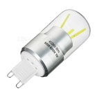 G9 3W dimmable 3-COB lâmpada LED bulbo luz branca fria
