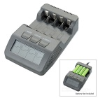 BT-C700 Smart 4-Slot Internal Resistance Testing Battery Charger for AA / AAA Battery -Grey(US Plug)