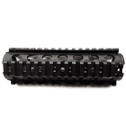 ACCU Aluminum Alloy Fishbone Style Quad Rail Hand Guard w/ Wrench for M4/M16/AR15 Rifle - Black