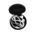 EVA Storage Case Bag for Headphone / Change / Coins / Keys - Black