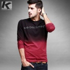 KUEGOU KPT-6311 Men's Gradients Round Neck Long Sleeve T-Shirt - Red (L)