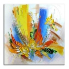 Abstract Hand Painted Canvas Painting w/o Stretcher