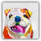 Home Room Decoration Frame-Free Dog Painting Canvas Wall Art Picture (42 x 42cm)