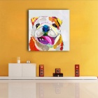 Accueil Frame-gratuit Dog Painting Canvas Wall Art Image - blanc (42 * 42cm)