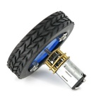 Inteligente 47x12mm Car Model Wearable Rueda de goma para N20 Gear Motor - Azul + Negro (2 piezas)