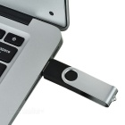 Roterende High-Speed ​​USB 2.0 Flash Drive - Zilver + Zwart (32GB)