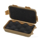EDCGEAR Water & Shock Resistant Sealed Outdoor Survival Storage Case Box Container - Sand color (S)
