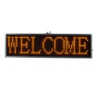 34cm Aluminum Alloy Yellow Light LED Message Display Board - Silver + Black (US Plug)