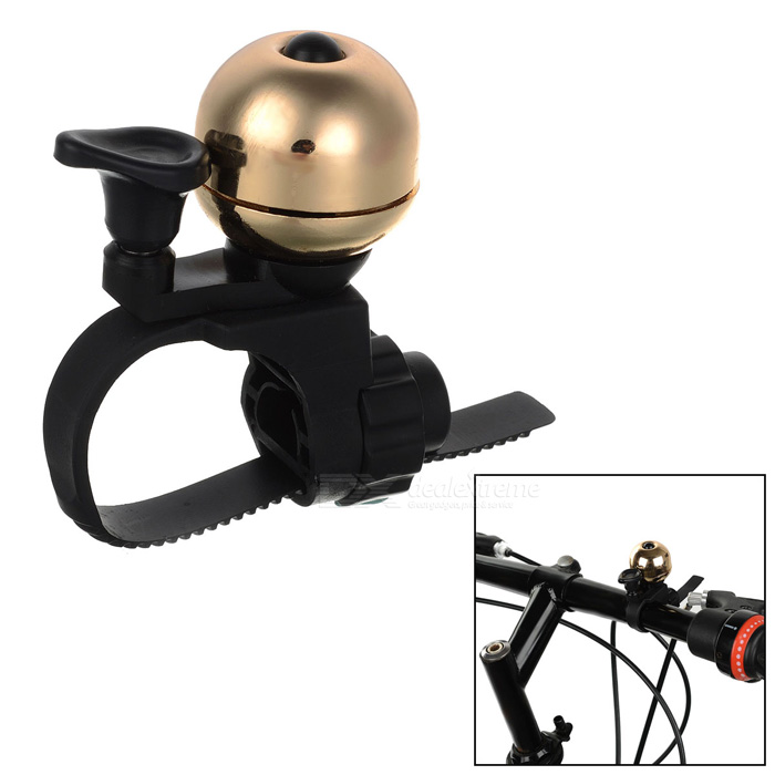 CTSmart Bike Bicycle Mini Ultra-Loud Safety Warning Bell - Black + Golden