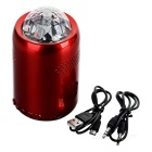 Mini Portable Disco Handsfree Bluetooth Subwoofer Speaker w/ RGB Stage Light - Red