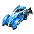 C1 USB Rechargeable 2.4GHz 4-CH Remote Control RC Wall Climbing Climber Car Toy - Blue + Silver Grey