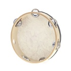 "8"" Hand Held Tambourine Drum Bell Birch Metal Jingles Percussion Musical Educational Toy Instrument"