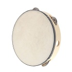 "8 ""Hand Held Tambourine Tambor de Bell Birch metal Jingles Percussão Musical Instrument Toy Educacional"