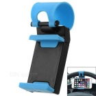 Creative Adjustable Car Steering Wheel Mount Holder for Cell Phone / GPS Navigator - Black + Blue