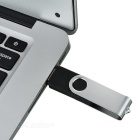 Rotating High-Speed USB 2.0 Flash Drive - Silver + Black (8GB)