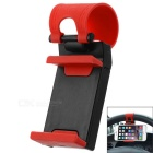 Creative Adjustable Car Steering Wheel Mount Holder for Cell Phone / GPS Navigator - Black + Red