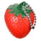 Creative Strawberry Stil Zinc Alloy butan Gas Lighter - Rød + Grønn