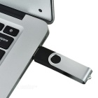 Roterende High-Speed ​​USB 2.0 Flash Drive - Zilver + Zwart (4GB)