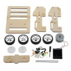 Solar Powered Car Ensamble Juguete Educativo DIY Kit - Negro + Madera Color