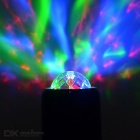 Mini Disco Bluetooth Subwoofer Speaker w / RGB Stage Luz - preto