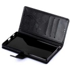 MO.MAT Butterfly Style PU Leather Wallet Case for Sony Z5 - Black